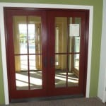 Pella Wood/Clad Hinged Patio Door with optional grilles